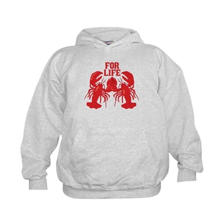 Lobsters Mate For Life Kids Hoodie