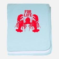 Lobsters Mate For Life baby blanket