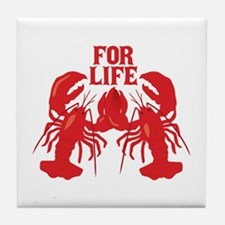 Lobsters Mate For Life Tile Coaster