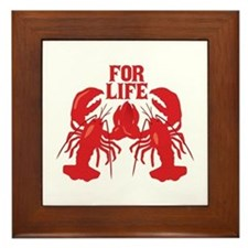 Lobsters Mate For Life Framed Tile
