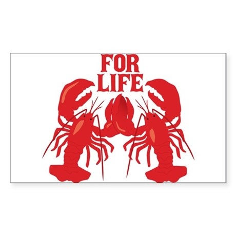 Lobsters Mate For Life Sticker (Rectangle)