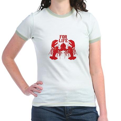 Lobsters Mate For Life Jr. Ringer T-Shirt