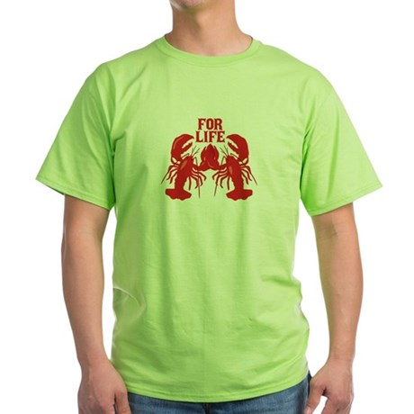Lobsters Mate For Life Green T-Shirt