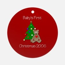 Baby's First Christmas 2006 (bear w/ tree)