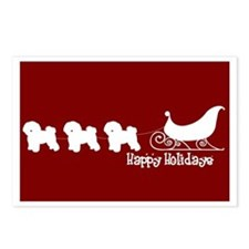 "Bichon Frise ""Sleigh"" Postcards (Package of 8)"