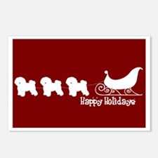"""Bichon Frise """"Sleigh"""" Postcards (Package of 8)"""