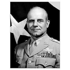 Digitally restored vector portrait of General Jame Poster