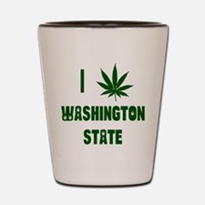 I Love Washington State Shot Glass