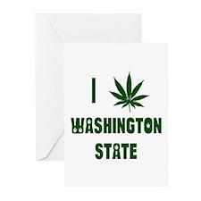 I Love Washington State Greeting Cards (Pk of 10)
