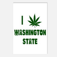 I Love Washington State Postcards (Package of 8)