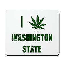 I Love Washington State Mousepad