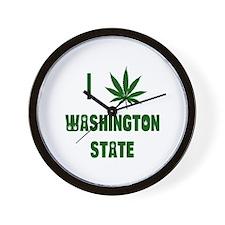 I Love Washington State Wall Clock