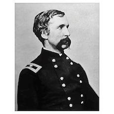 Digitally restored vector portrait of General Josh Poster