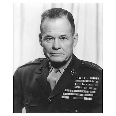 Digitally restored vector portrait of General Lewi Poster