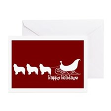 """B Collie """"Sleigh"""" Greeting Cards (Pk of 10)"""