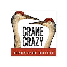 """Crane Crazy Square Sticker 3"""" x 3"""""""