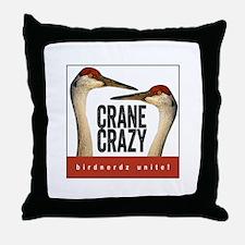 Crane Crazy Throw Pillow