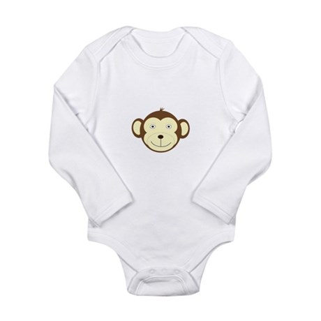 Monkey Long Sleeve Infant Bodysuit