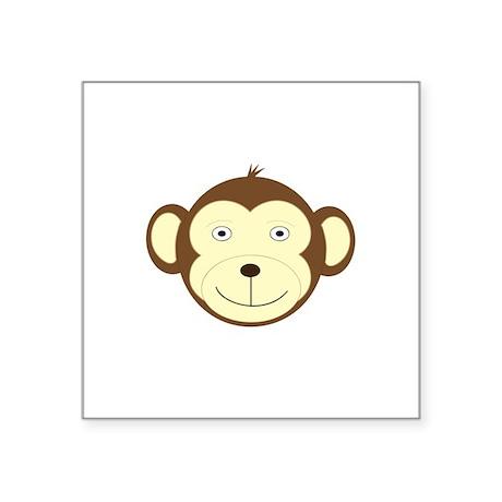 "Monkey Square Sticker 3"" x 3"""