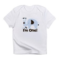 Im ONE Blue elephant Infant T-Shirt