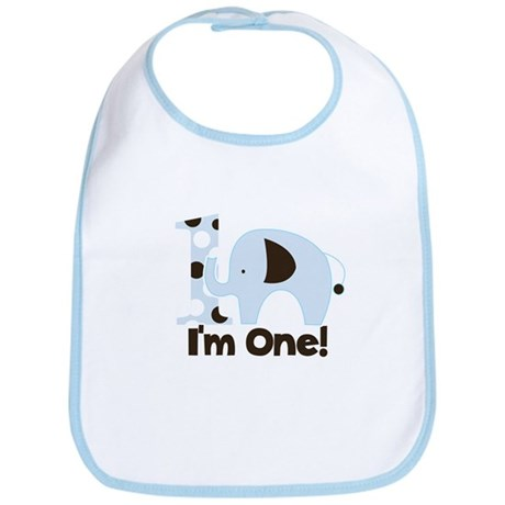 Im ONE Blue elephant Bib