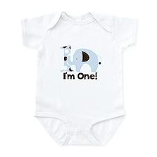 Im ONE Blue elephant Infant Bodysuit