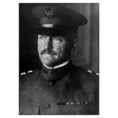 Digitally restored vector portrait of Major Genera Poster