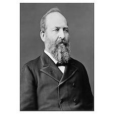 Digitally restored vector portrait of President Ja