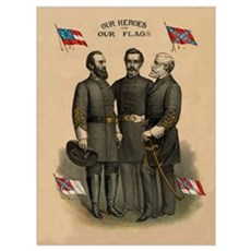 Digitally restored vector print of the Confederate Poster