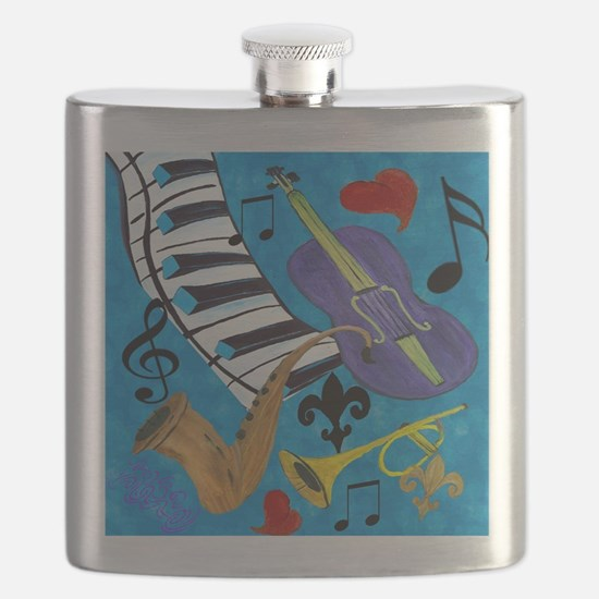 Jazz on Blue Flask