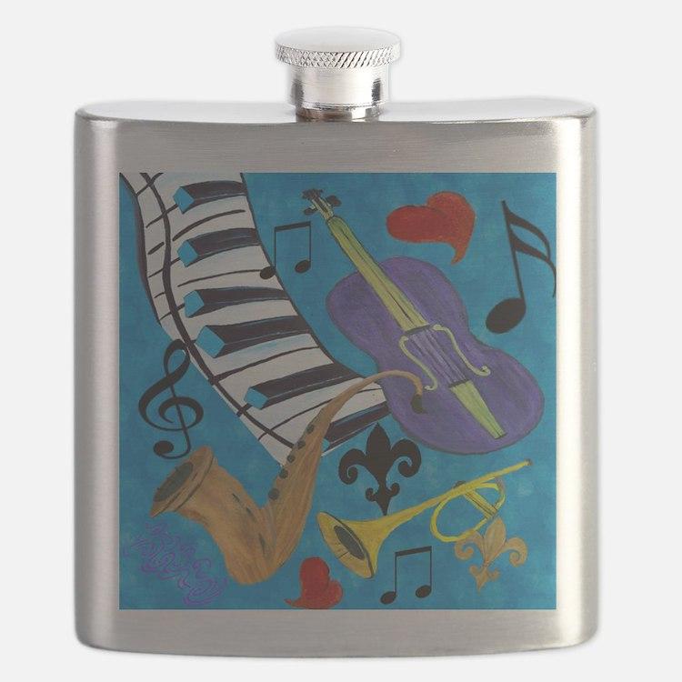 Jazz on Blue Flask