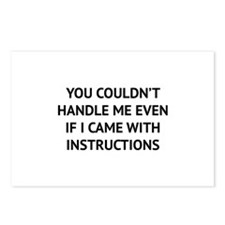 You couldn't handle me Postcards (Package of 8)