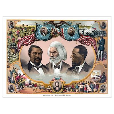 Digitally restored vintage American History print Poster