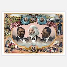 Digitally restored vintage American History print