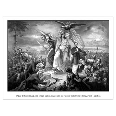 Digitally restored vintage Civil War print of Lady Poster