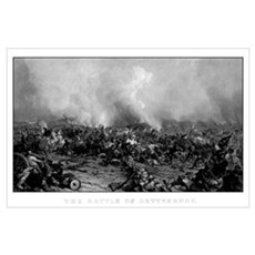 Digitally restored vintage Civil War print of the  Poster