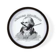 James Madison 10 Wall Clock