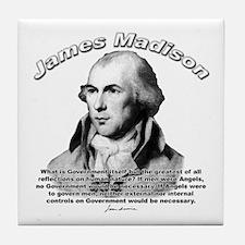 James Madison 10 Tile Coaster