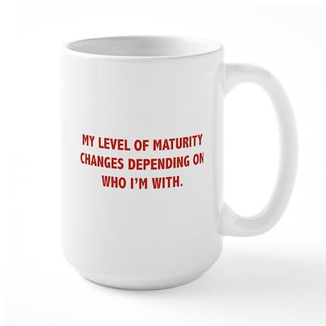 My Level Of Maturity Large Mug