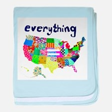 Everything is Everything Equal baby blanket