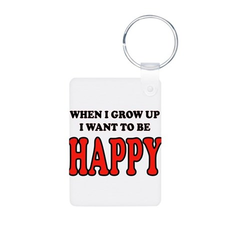 HAPPY Aluminum Photo Keychain