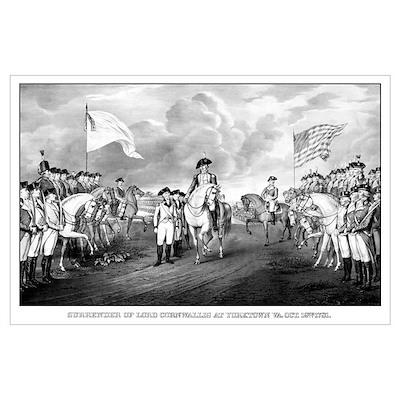 Digitally restored vintage Revolutionary War print Poster