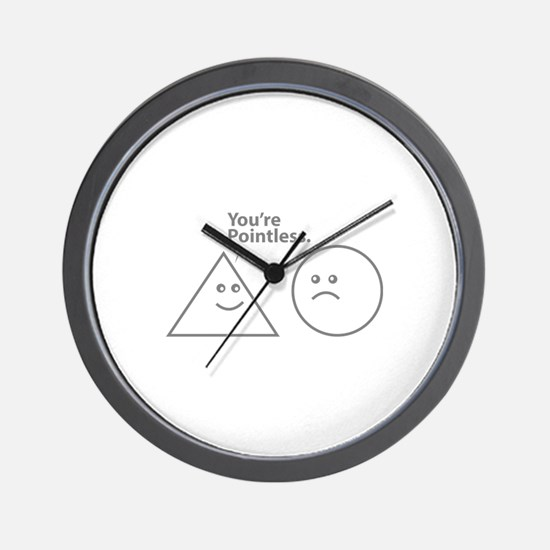 You're pointless Wall Clock