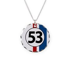 53 red and blue stripes Necklace
