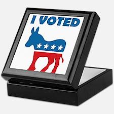 I Voted Democrat Keepsake Box
