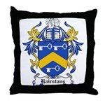 Hairstans Coat of Arms Throw Pillow