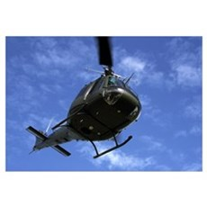 Former U.S. Air Force Bell UH-1E Huey helicopter i Framed Print