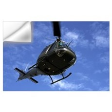 Former U.S. Air Force Bell UH-1E Huey helicopter i Wall Decal