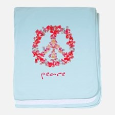 Attraction Simple Peace baby blanket