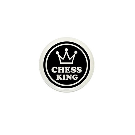 Chess king Mini Button (10 pack)